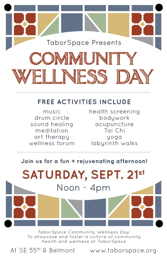 Acupuncture at TaborSpace community wellness day